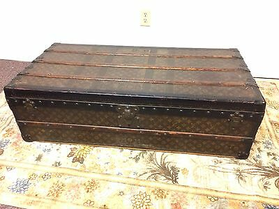 Antique 20th C Louis Vuitton Cabine Steamer Trunk