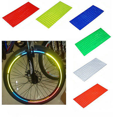 Fluorescent MTB Bike Bicycle Sticker Cycling Wheel Rim Reflective Decal Stickers