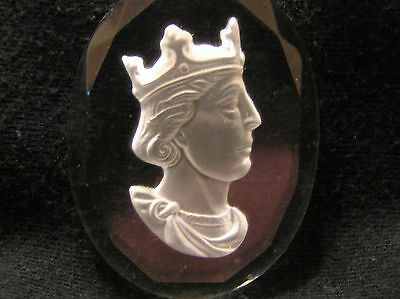 GLASS INTAGLIO or CAMEO of KING STEPHEN who reigned 1135 1154