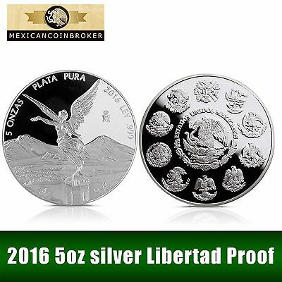 2016 5oz Silver Libertad Proof   *Treasure Coins of Mexico™*