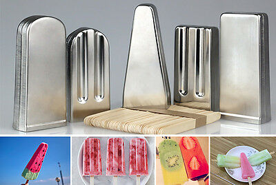 Ice Pop Molds Stainless Steel Molds Ice Lolly Popsicle Single Cup Holder 1pc
