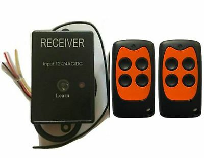 Universal garage door receiver Gate Receiver includes 2 remotes 433.92MHz