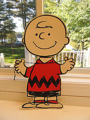 Vintage Hallmark Peanuts Charlie Brown Stand-up Cardboard Store Display 24""