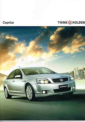 Holden Caprice Wn Booklet Brochure 9 2013 Tank10429 Ad13245 Excellent Condition