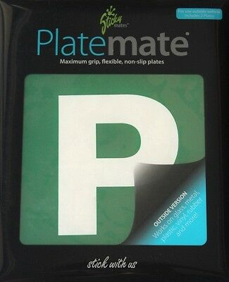 2 Green P Plates Sticks to Any Car Surface Removable And Replaceable Platemate