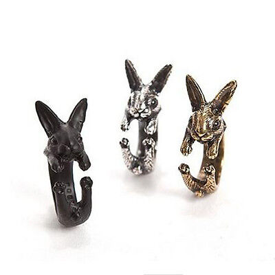 Vintage Rabbit Retro Bunny Ring Unisex Jewelry