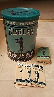 Vintage Bugler Tobacco Tin and Papers