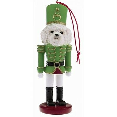 Bichon Frise Dog Toy Soldier Nutcracker Christmas Ornament