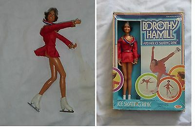 Vintage  Ice Skating DOROTHY HAMILL Doll 1977 by Ideal 1290-6 w/ Box NO Rink