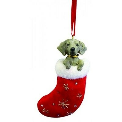 Weimaraner Santa's Little Pals Dog Christmas Ornament