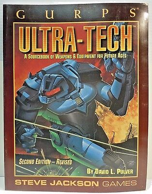 Gurps Ultra-Tech by Steve Jackson Games RPG 1996 #6032 Softcover Sourcebook