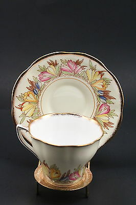 BEAUTIFUL ROSINA FLORAL Fine Bone China Tea Cup MADE IN ENGLAND