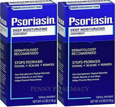 Psoriasin Psoriasis OINTMENT 4.2oz  ( 2 pack ) NEW NOW in TUBE!  ***