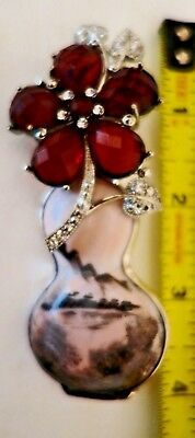 GORGEOUS LARGE  Rebecca Collins Sterling PIN