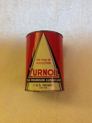 Rare Zurnoil Motor Oil Empty Quart Can - The Premium Lubricant