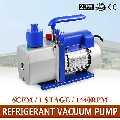 6CFM 1 Stage Refrigerant Vacuum Pump Refrigeration Air Conditioning 170L/Min