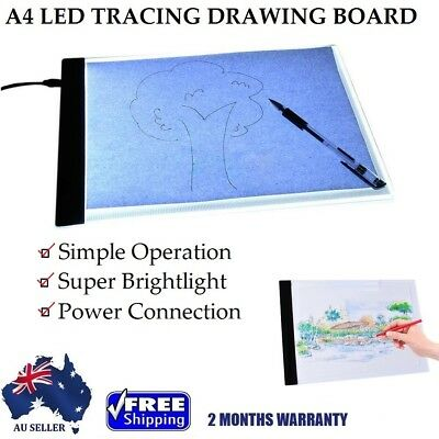 NEW A4 LED Tracing Drawing Board Slim Pad Art Stencil Pattern Copy Light Box