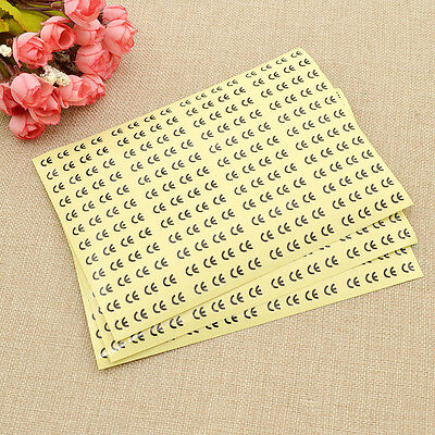 576 Pcs Transparent CE Logo Certificated Labels Round Adhesive Sticker Tags