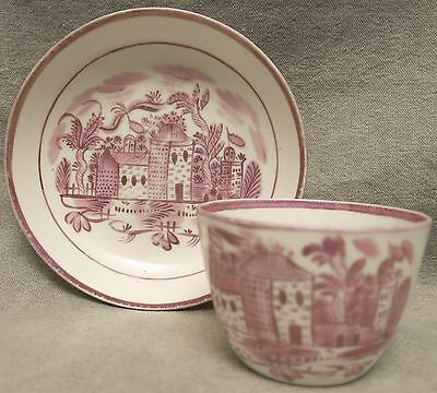 Lovely Antique Pink Luster Cup & Saucer
