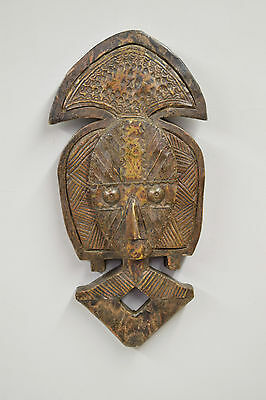 African Mask Reliquary Copper Mask Gabon Tribe Africa