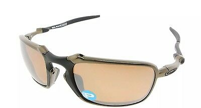 Oakley Sunglasses Badman Pewter with Polarized Tungsten Iridium Lens OO6020-02