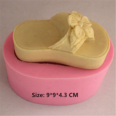 Women Slippers Silicone Cake Mould Fondant Sugar Craft Chocolate Decorate Tool