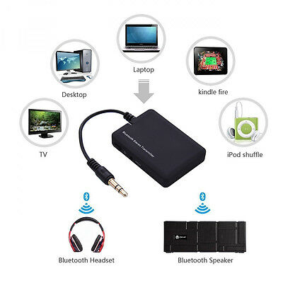 Wireless Bluetooth Stereo Music Transmitter Audio Adapter 3.5mm A2DP for TV MP3