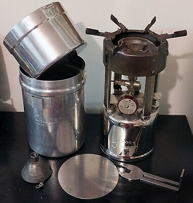 """Coleman Canada 530 """"G.I."""" Pocket Stove with Case and Accessories, 1950"""
