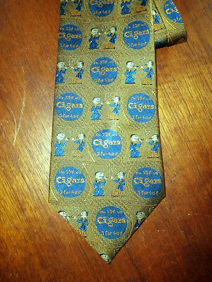 Lee Allison Four in Hands 15 cent Cigars Tie Gold Navy