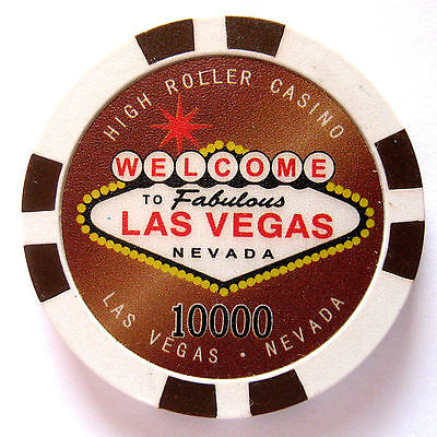 WELCOME TO LAS VEGAS, NEVADA  Collectible Poker chip value $1000 (#6341/42)