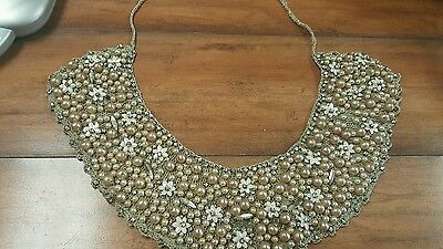 Vintage Pearl/Beaded Collar- Ready to Wear! LOOK!
