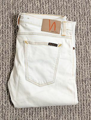 Slim Fit Bleached Light Blue Nudie Jeans - 33/32 (Almost white)