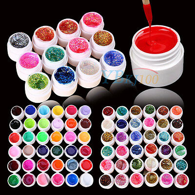 12/24/36 Mix Color Solid Pure Glitter Gel Acrylic UV Builder Set for Nail Art MF