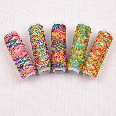 5PCS Colorful Polyester Sewing Machine Threads Overlocking String
