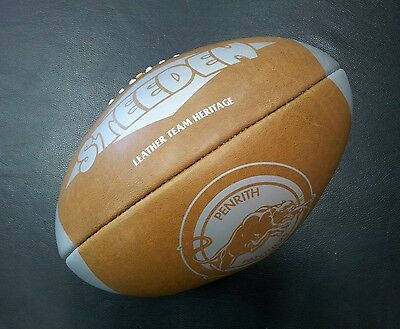 Steeden Penrith Panthers Laced Leather Team Heritage Rugby League NRL Ball *NEW*