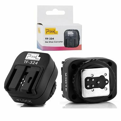 Pixel Flash Hot Shoe Converter TF-324 Adapter for Sony HLV F58AM F42AM F56AM