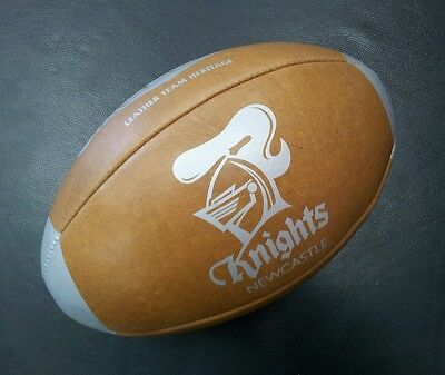 Steeden Newcastle Knights Laced Leather Team Heritage Rugby League NRL Ball *NEW