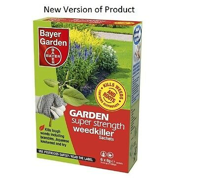 Bayer Super Strength Glyphosate Weedkiller - Very Strong Weed Killer 1-36 Sachet