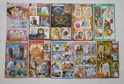 Cats and Kittens Stickers 4x6'' (10x15cm)