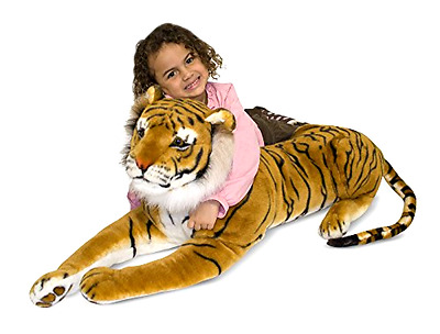 Melissa & Doug Giant Tiger Lifelike Stuffed Animal over 5 feet long New