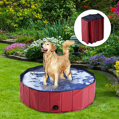 PawHut Folding Dog Bath Pool Puppy Bathing Tub Dogs Casts Washer Pet Supplies