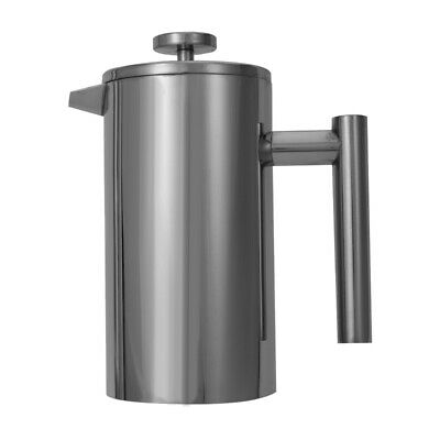 Double Wall Stainless Steel Ground Coffee Filter Maker Plunger 800ML A8O9