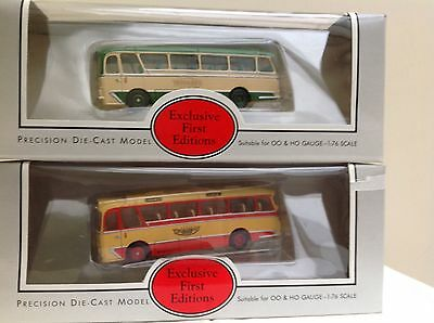 EFE 1.76 Scale Buses Two Harrington Coaches Maidstone & Yelloway Mintboxed