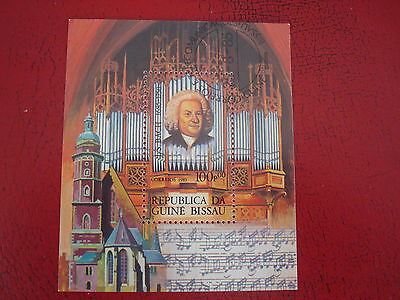Guinea-Bissau - 1985 Bach - Minisheet - Unmounted Used - Ex. Condition