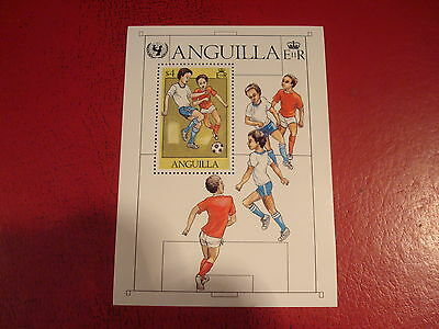 Anguilla - Unicef Youth Football - Minisheet - Unmounted Mint - Ex. Condition