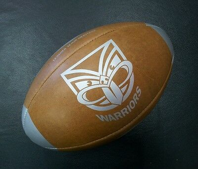 Steeden Auckland Warriors Laced Leather Team Heritage Rugby League NRL Ball *NEW