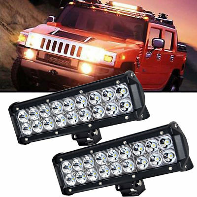 2x 9 10 INCH 54W LED LIGHT BAR SPOT WORK LIGHT JEEP 4WD ATV UTE OFFROAD LAMP
