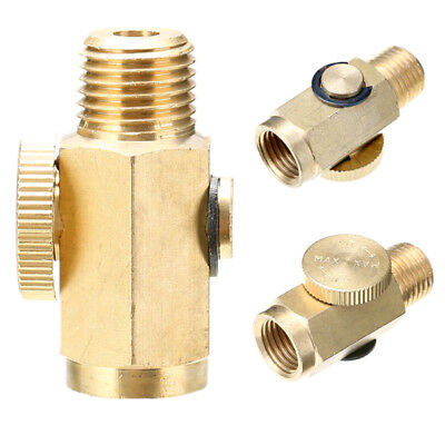 1/4'' NPT Inline Regulator Solid Brass Compressed Air Pressure Valve Tool New