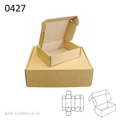 Brown Cardboard Postal Boxes - Royal Mail Small Parcel Mailing & Shipping Boxes