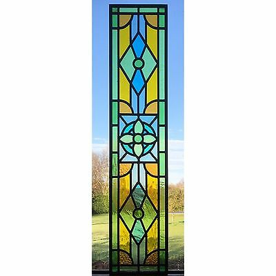 Handmade Traditional Stained Glass Panel, Made To Order, Window